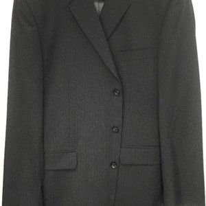 Men's Dark Grey Suit by J. Ferrar 2 Piece Size 43.